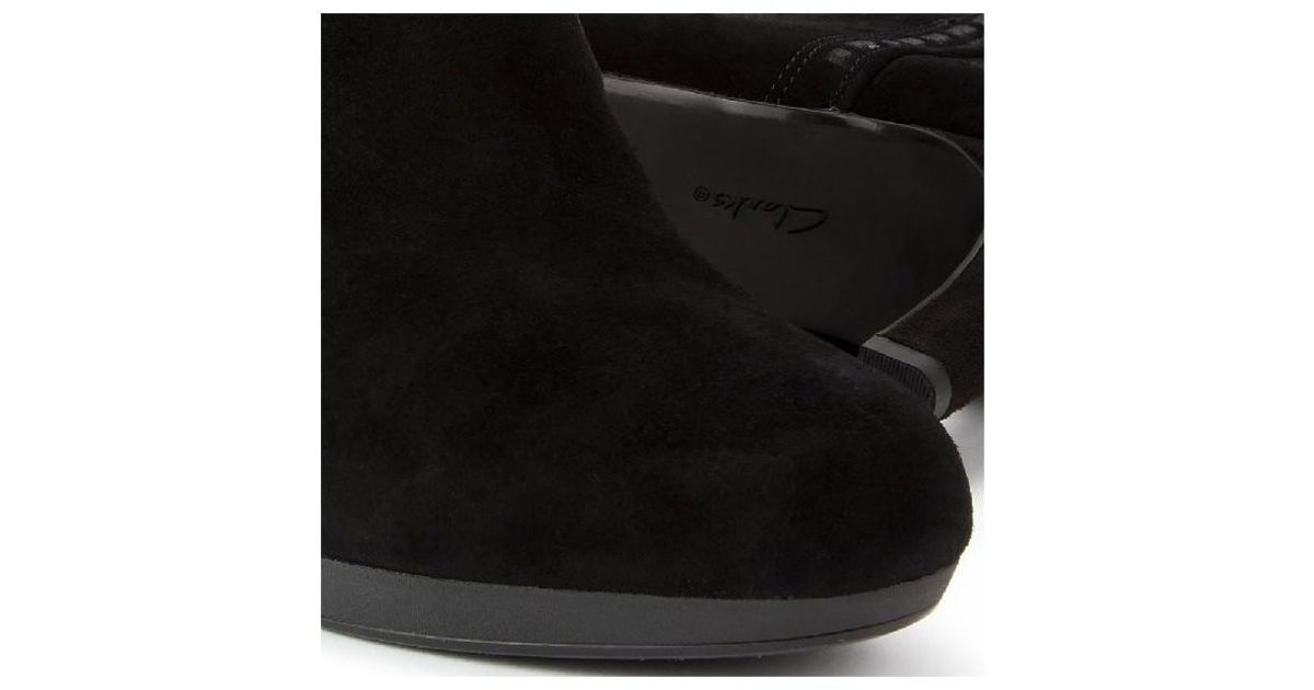 067def0385eb Clarks Adriel Sadie Women s Low Ankle Boots In Black in Black - Lyst