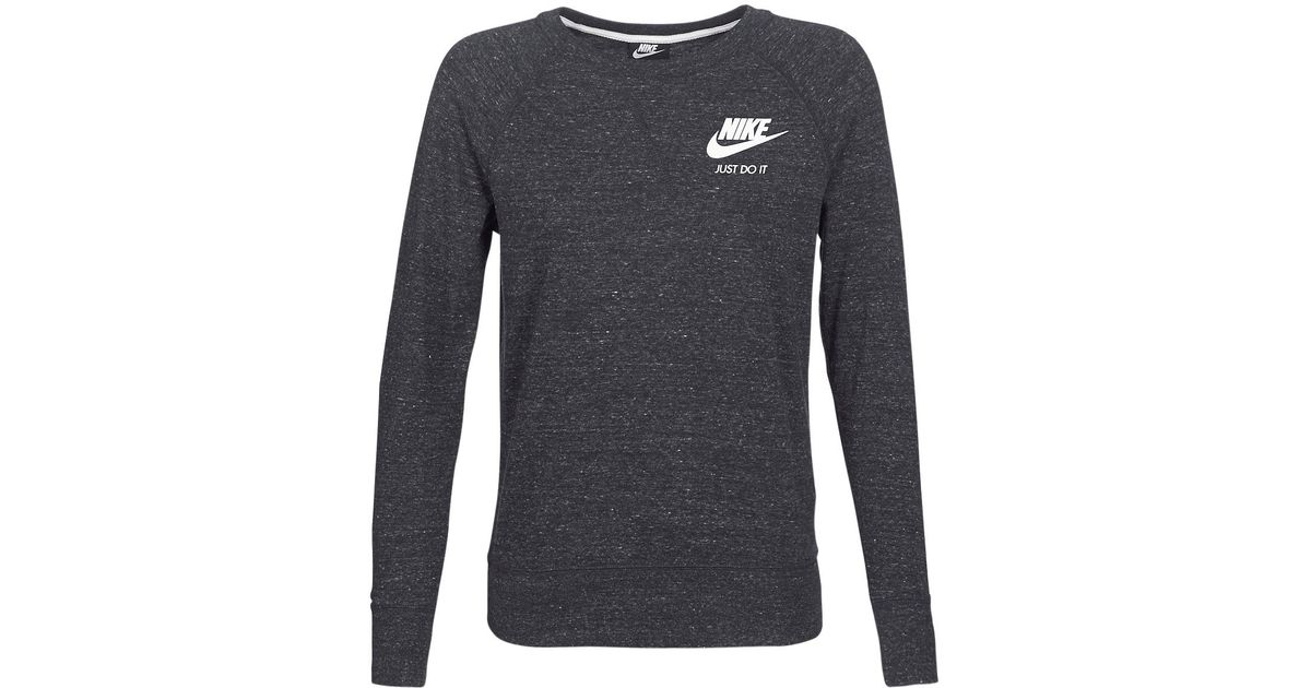 Nike Crew Sport Sweatshirt in Black - Lyst 0809a6c98