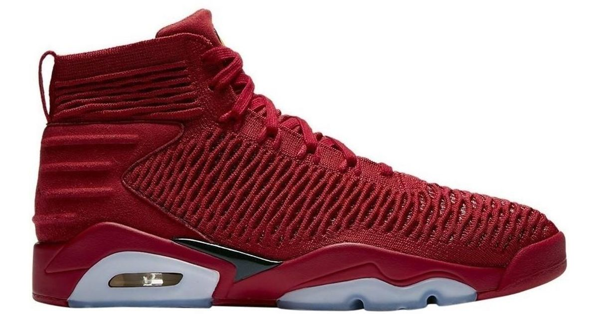 sports shoes 9baa7 9f486 Nike Jordan Flyknit Elevation 23 Men s Shoes (high-top Trainers) In Red in  Red for Men - Lyst