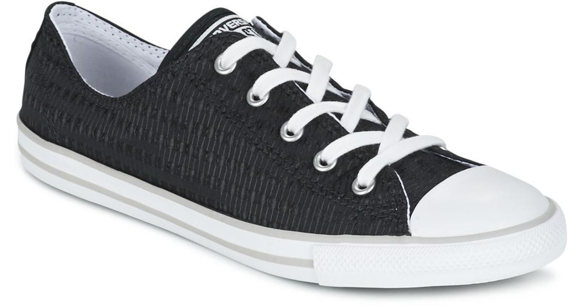 0aea315ca93d Converse Chuck Taylor All Star Dainty Engineered Lace Dots Ox Women s Shoes  (trainers) In Black in Black - Lyst