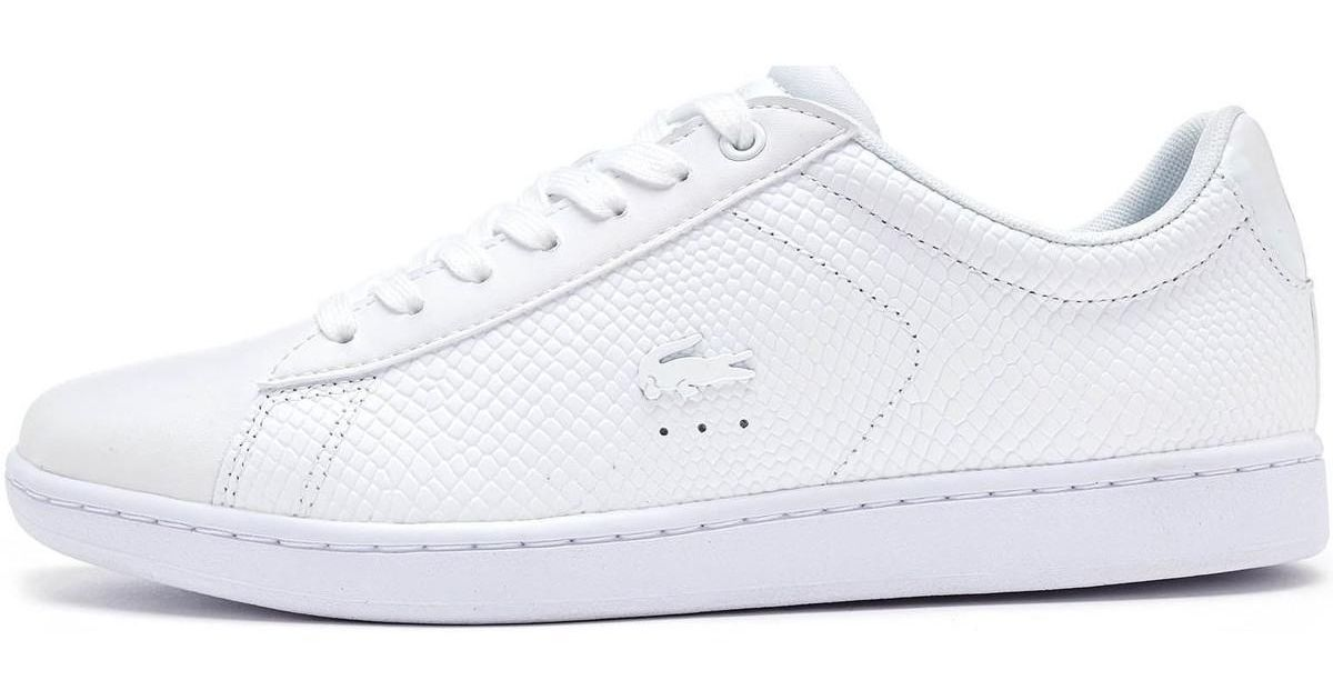 5b8e77691 Lacoste Carnaby Evo 317 3 Spw Leather Trainers In Triple White 734spw00 Men s  Shoes (trainers) In White in White for Men - Lyst