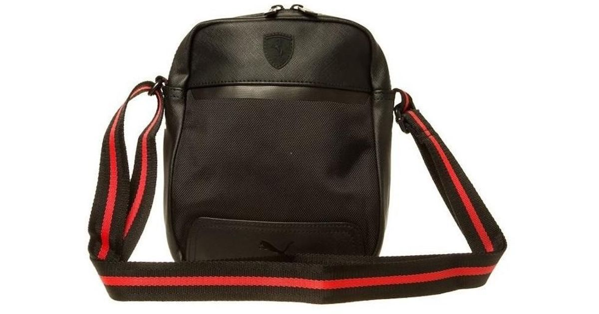5f1266e15a PUMA Ferrari Ls Portable Men's Shoulder Bag In Black in Black for Men - Lyst
