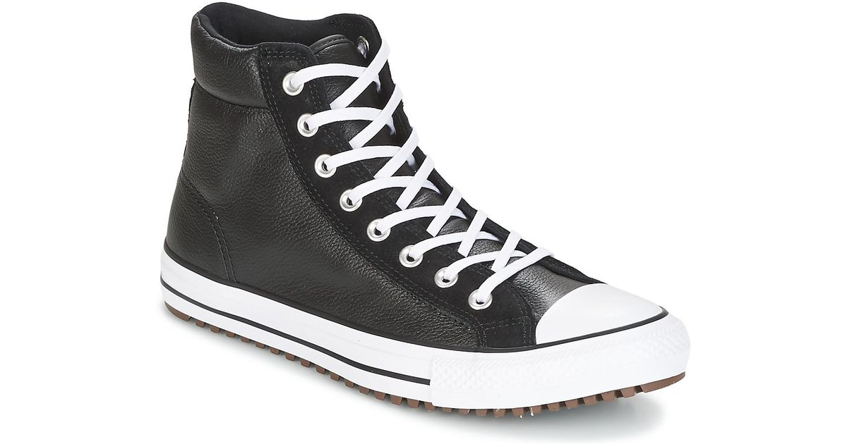 076e4fb679ad98 Converse Chuck Taylor All Star Boot Pc Leather And Suede Hi Black black w  Men s Shoes (high-top Trainers) In Black in Black for Men - Lyst