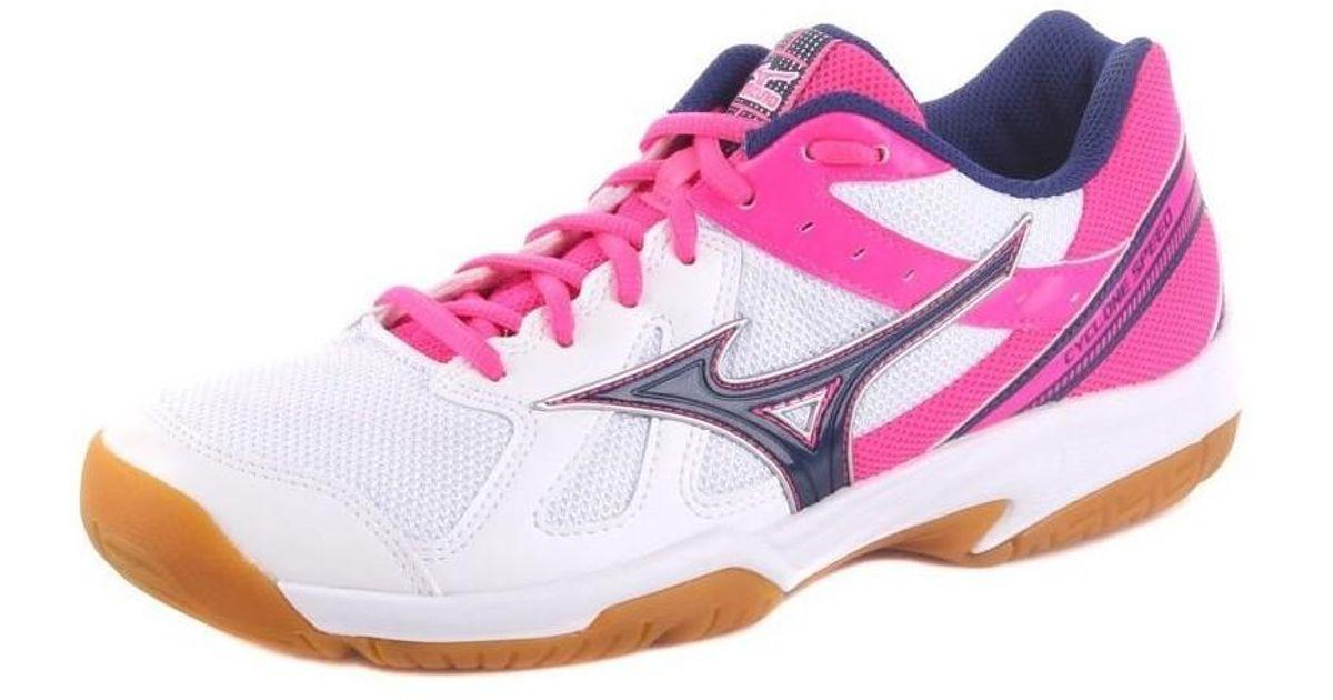 6ec71de63f9b Mizuno Cyclone Speed Womens Women's Shoes (trainers) In Multicolour in Pink  - Lyst