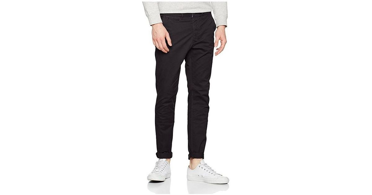 a7c29a8e28 Jack   Jones Pantalon Chino Jjimarco Jjenzo Black Ww420 Noos Men s Trousers  In Black in Black for Men - Lyst