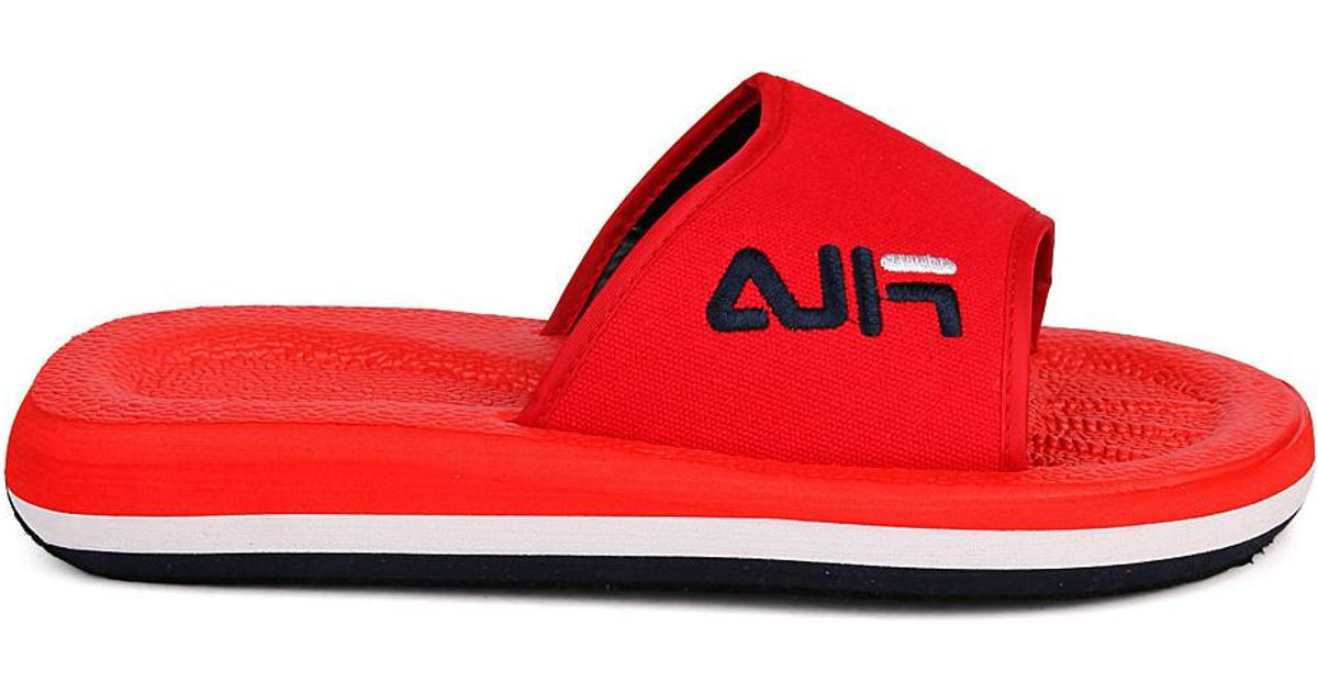 2776bb470292 Fila Tomaia Men s Flip Flops   Sandals (shoes) In Red in Red for Men - Lyst