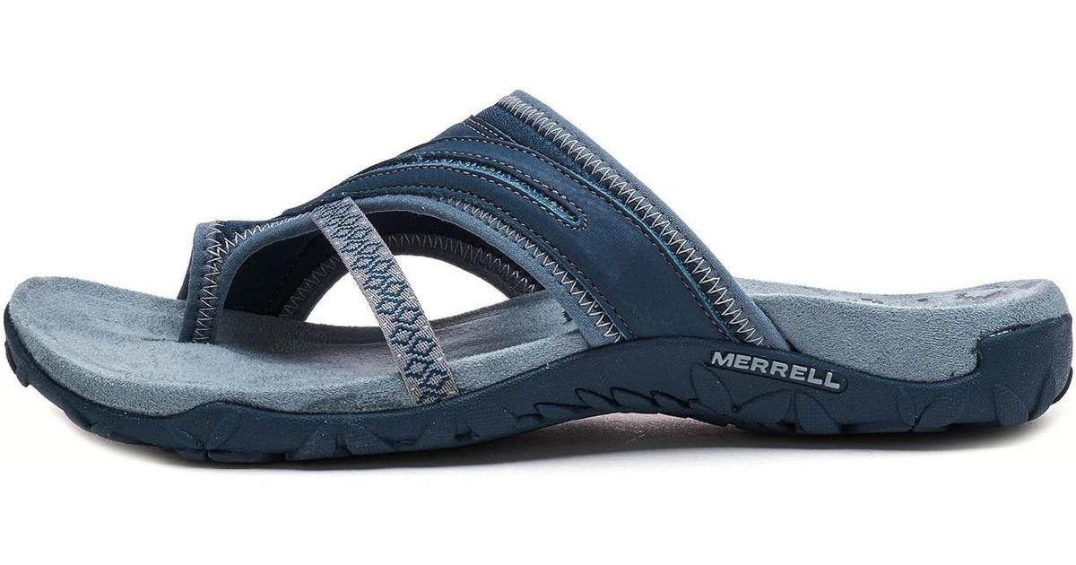 6ac57a6ec654 Merrell Terran Post Ii Women Sandals In Slate Blue J98750 Women s Sandals  In Blue in Blue - Lyst