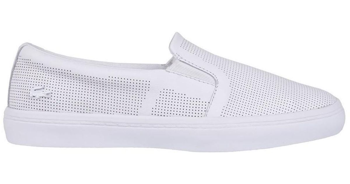 09c01e280 Lacoste Gazon Slip On Women s Slip-ons (shoes) In White in White - Lyst