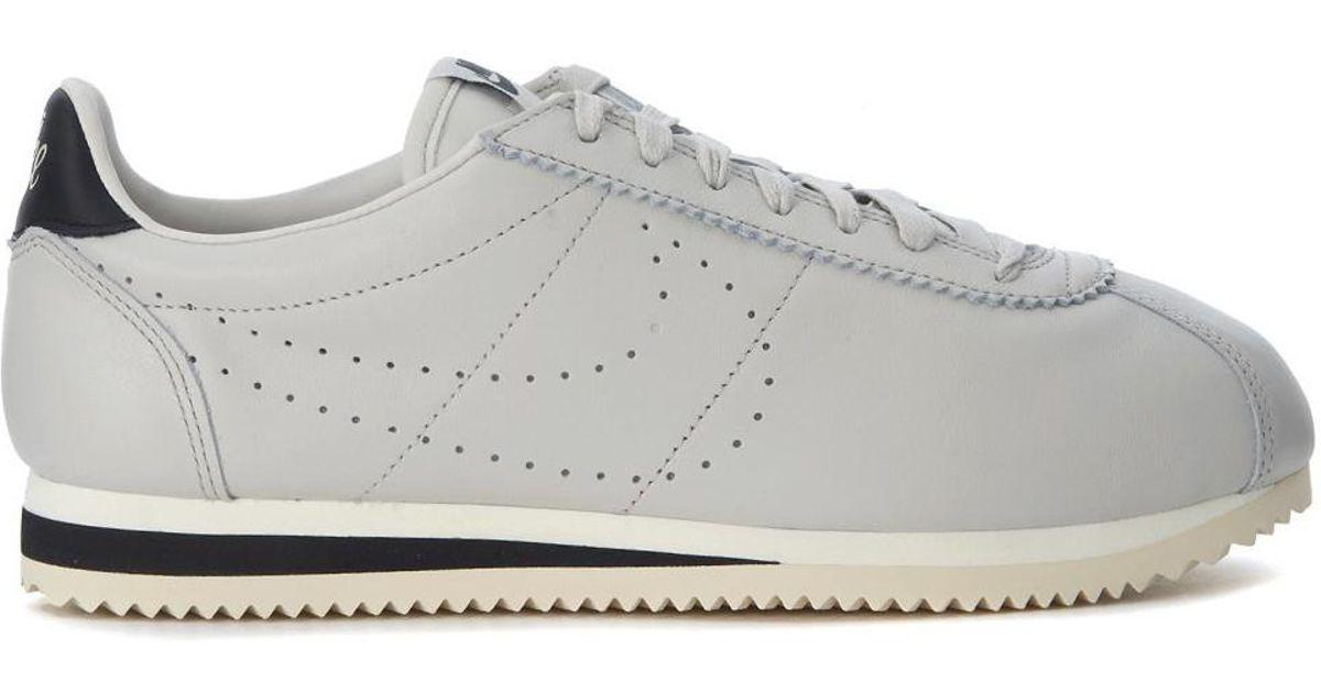 Zapatilla Premium Nike Classic Cortez Leather Premium Zapatilla En Pelle Grigio Chiaro a756a3