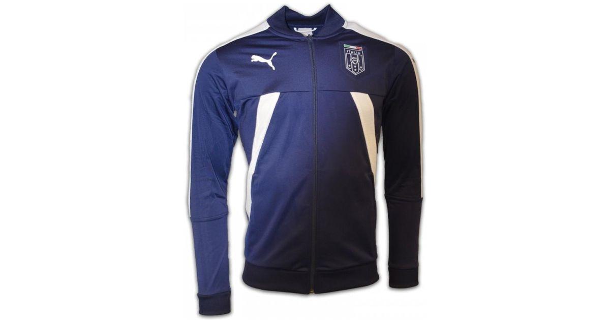 d7c2df774209 Puma 2016-2017 Italy Stadium Jacket (peacot) - Kids Women s In Blue in Blue  for Men - Lyst