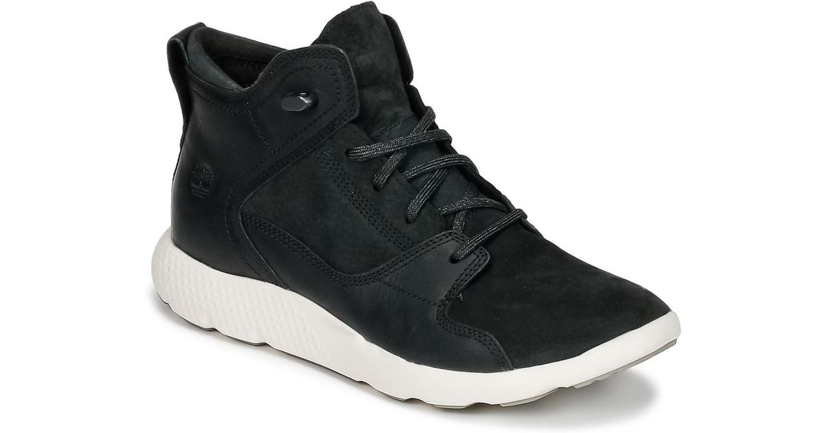 Timberland Flyroam Leather Hiker Men's Shoes (high top Trainers) In Black for men