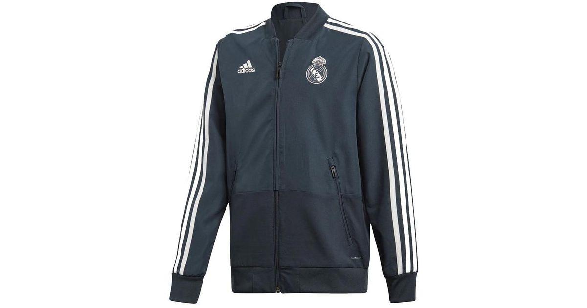 c9eae452 adidas 2018-2019 Real Madrid Presentation Jacket (dark) - Kids Men's  Tracksuit Jacket In Grey in Gray for Men - Lyst