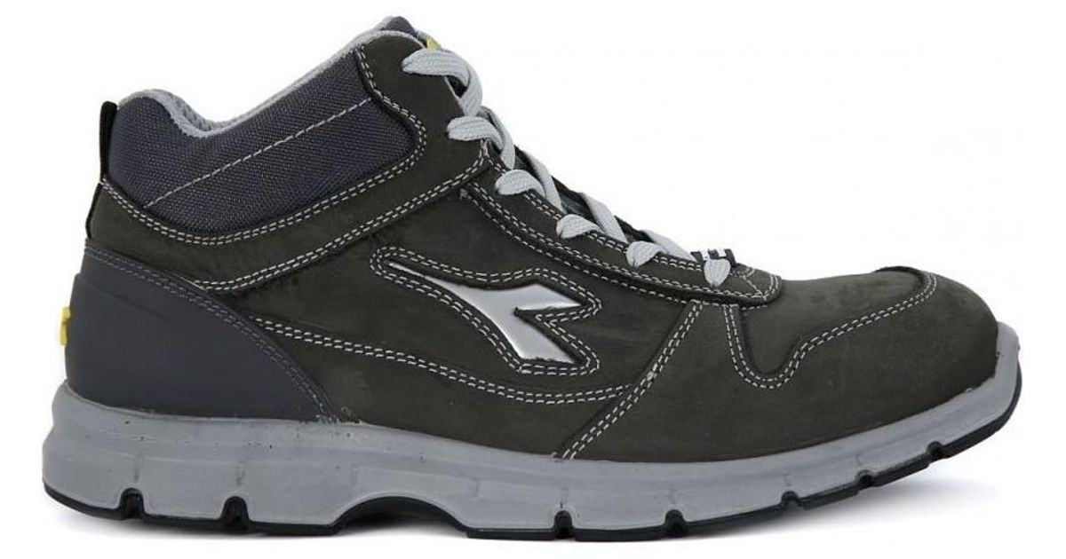 scarpe esclusive negozio ufficiale prezzo interessante Diadora - Gray Utility Run High S3 Src Men's Mid Boots In Grey for Men -  Lyst