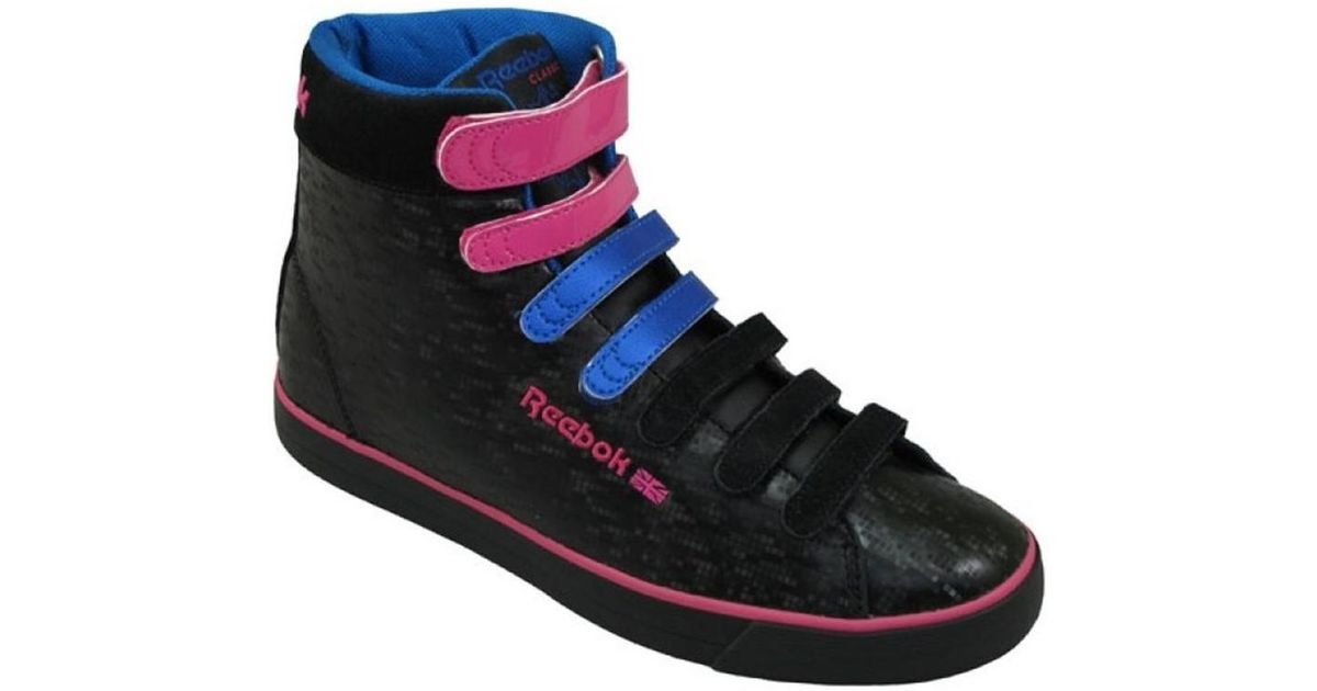 35f3d02521763 Reebok Straptastik Mid Women s Shoes (high-top Trainers) In Pink in Pink -  Lyst