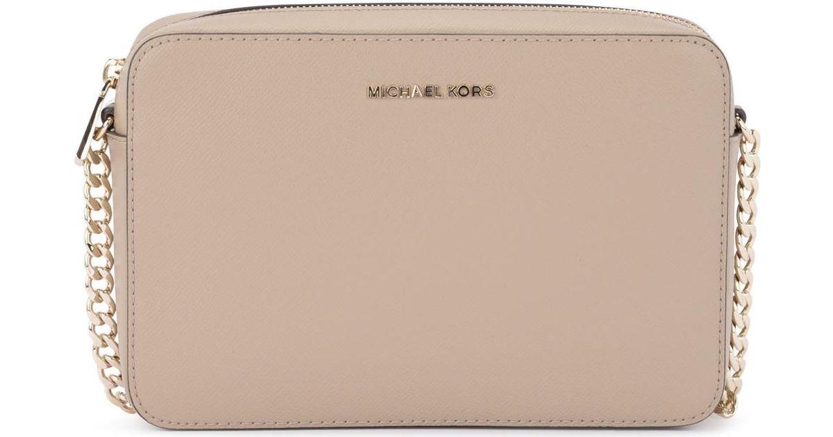 51a0fec33d69 MICHAEL Michael Kors Jet Set Travel Truffle Saffiano Leather Shoulder Bag  Women's Shoulder Bag In Beige in Natural for Men - Save 10% - Lyst