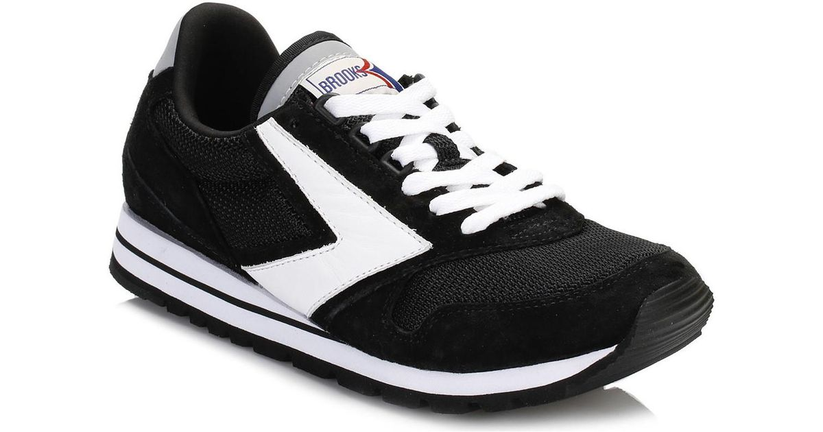 3855722fe2c85 Brooks Mens Jet Black white Chariot Trainers Men s Shoes (trainers) In  Multicolour in Black for Men - Lyst
