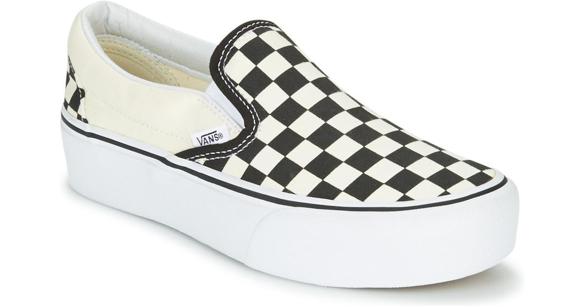 ab633e36f6 Vans Slip-on Platform Women s Slip-ons (shoes) In White in White - Save 13%  - Lyst
