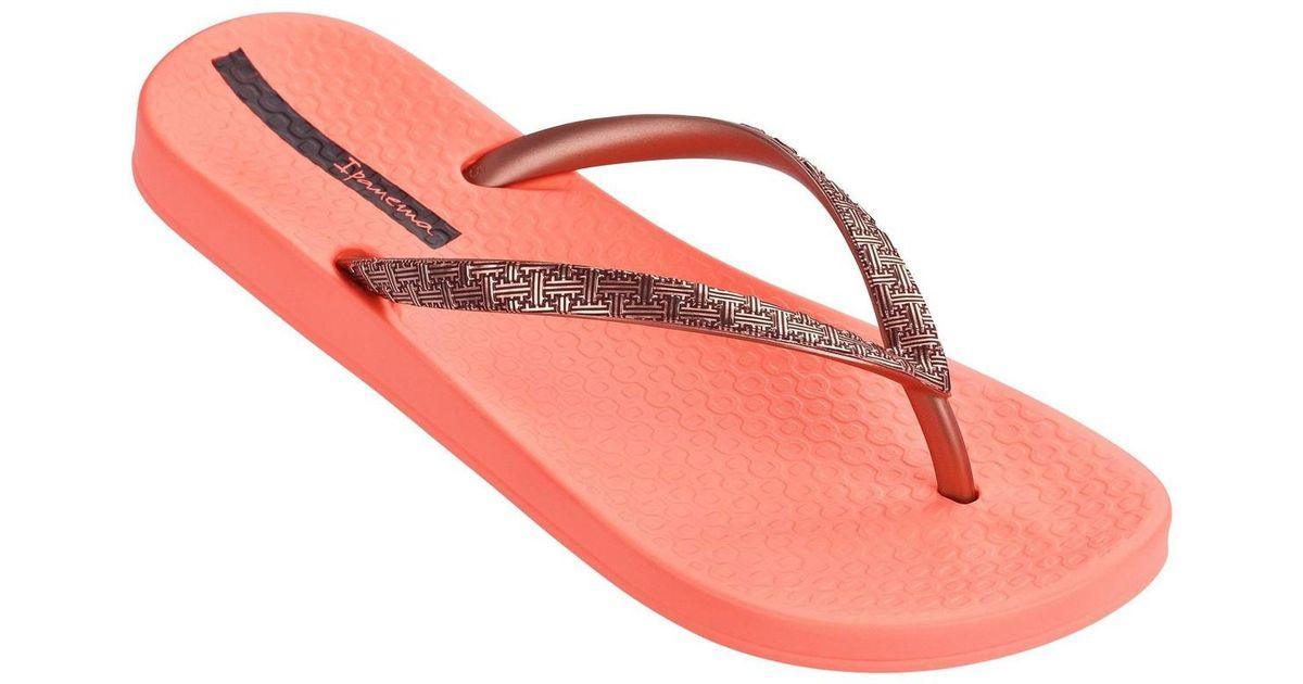 c1f5a3497fc0c8 Ipanema Mesh Ii Flip Flops In Coral Rose Gold 81927 Women s Flip Flops    Sandals (shoes) In Orange in Orange - Lyst