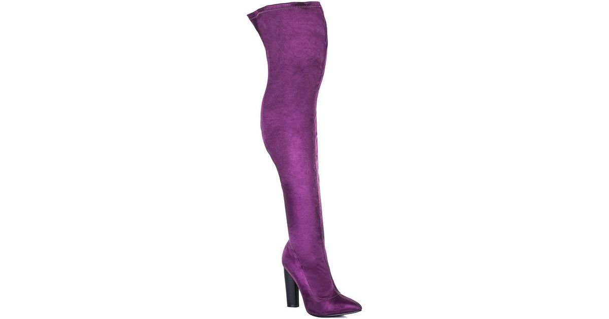 cafb1ad746a Spylovebuy Vagas Women s High Boots In Purple in Purple - Lyst