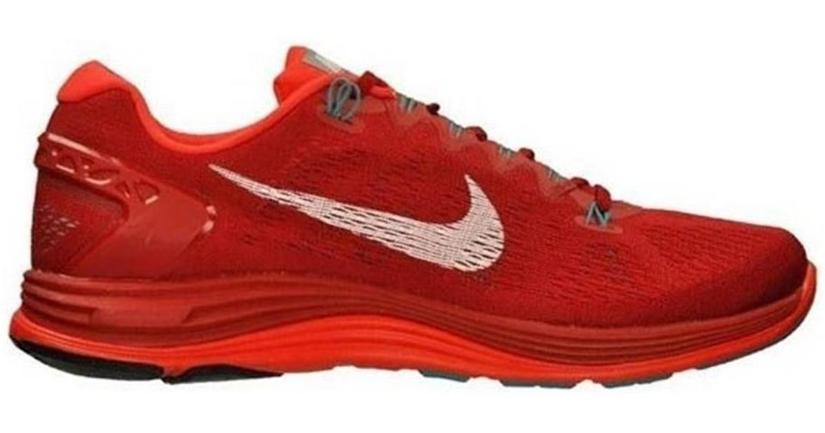 save off 606a8 fd260 ... clearance nike lunarglide 5 mens running trainers in red in red for men  lyst 4cdce bd079