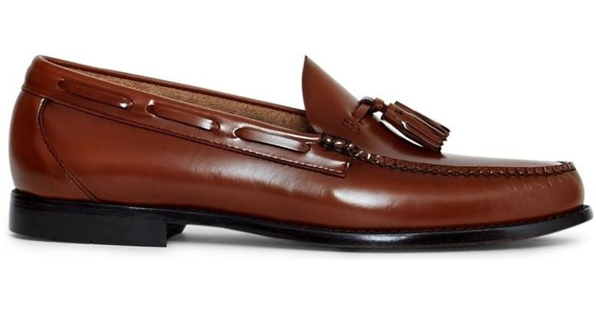 f6edf3a3044 G.H.BASS Weejuns Larkin Tassle Loafers Tan Men s Loafers   Casual Shoes In  Other in Brown for Men - Lyst