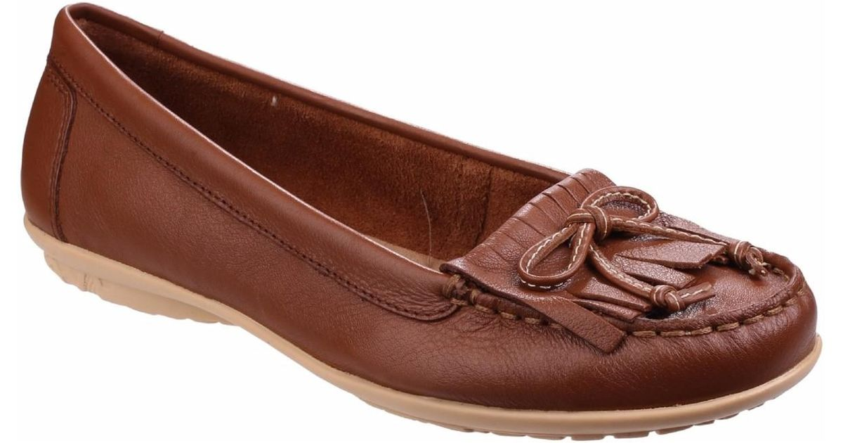 8d1529ce3f8 Hush Puppies Womens ladies Ceil Mocc Kl Contrast Slip On Shoes Women s  Loafers   Casual Shoes In Brown in Brown - Lyst