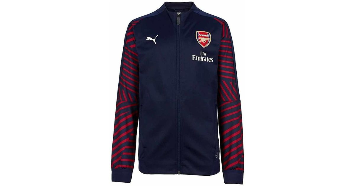 dcd2bd3d PUMA 2018-2019 Arsenal Stadium Jacket (peacot) - Kids Women's Tracksuit  Jacket In Blue in Blue - Lyst