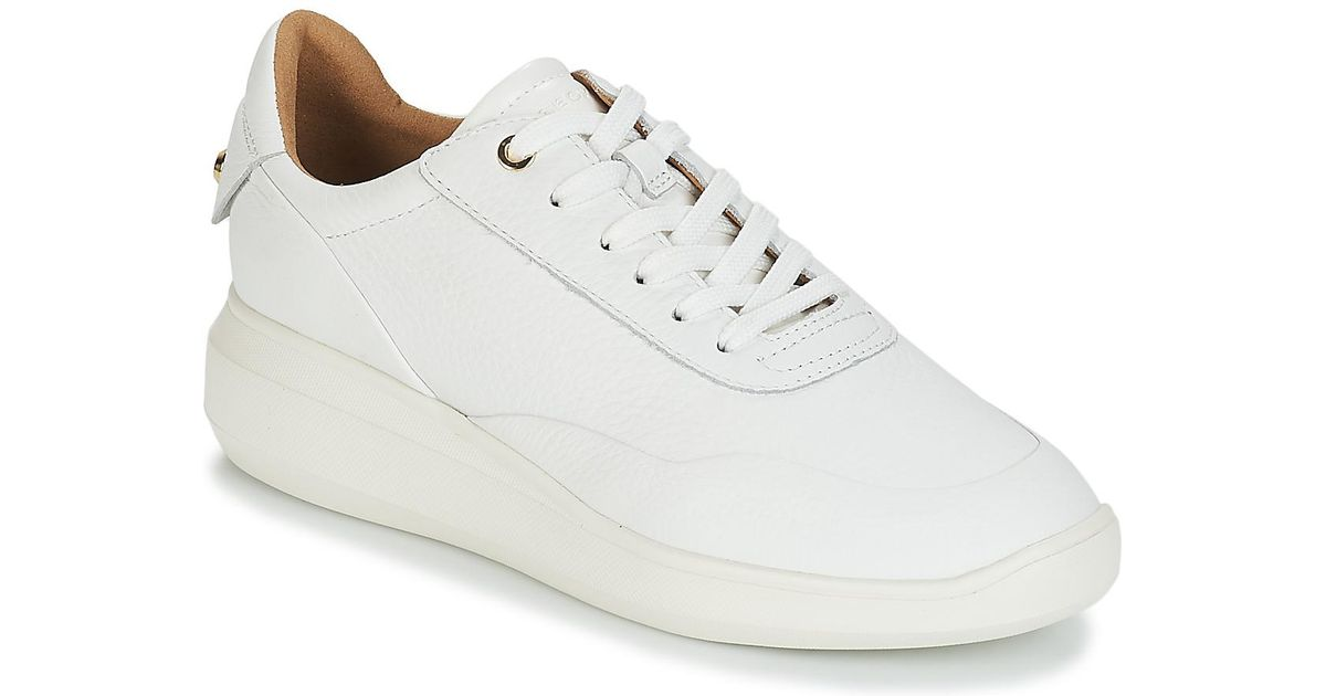 42c3b631629 Geox D Rubidia Women's Shoes (trainers) In White in White - Save 20% - Lyst