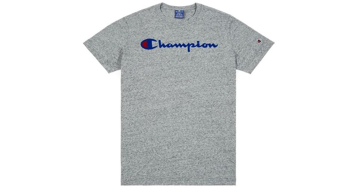 3f21cd52b Champion Crewneck Tshirt Nbk Men's T Shirt In Grey in Gray for Men - Lyst