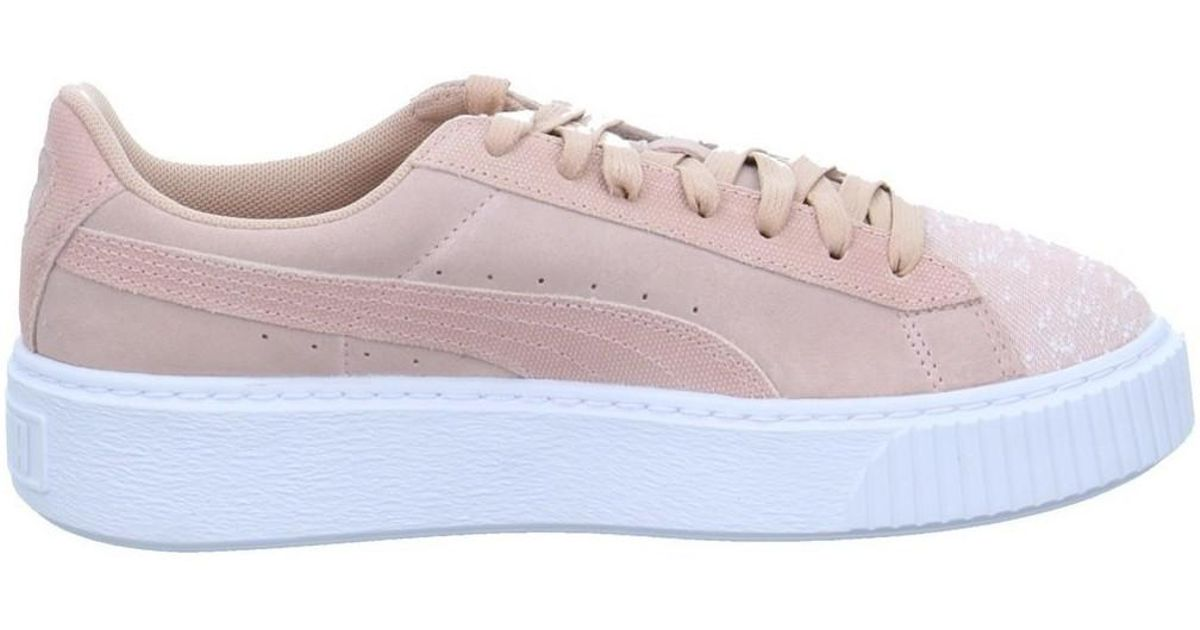 6b35bf681ed26a PUMA Suede Platform Pebble Men s In Pink in Pink for Men - Lyst
