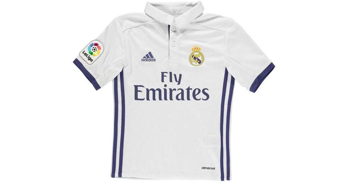 692a7d40948 adidas 2016-17 Real Madrid Home Shirt (ronaldo 9) - Kids Men s T Shirt In  White in White for Men - Lyst
