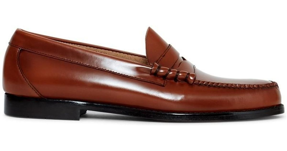 c5df8f1086c G.H.Bass Weejun Larson Moc Penny Loafer Brown Men s Loafers   Casual Shoes  In Brown in Brown for Men - Lyst