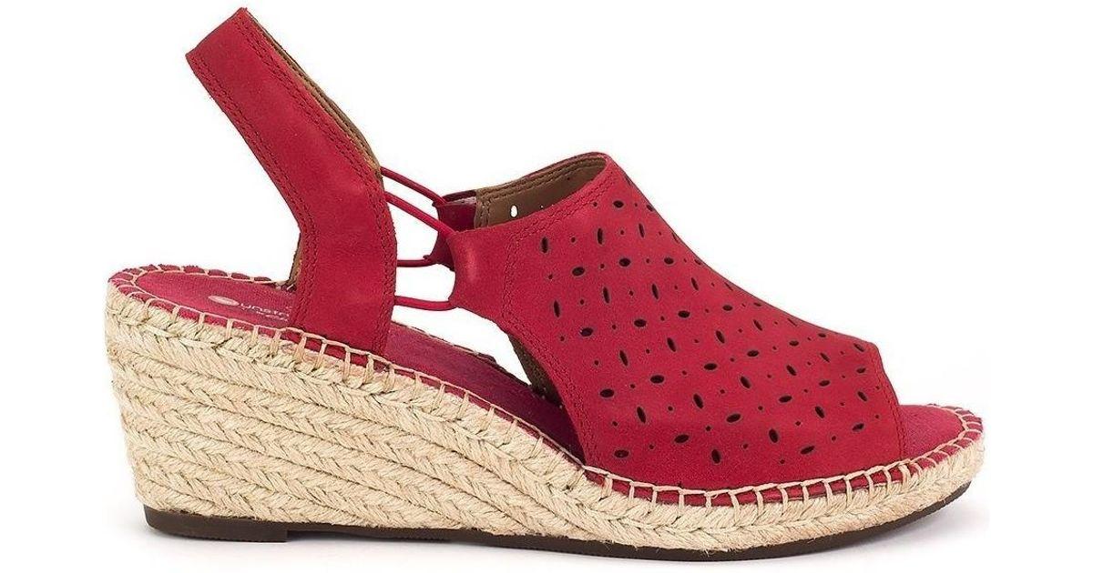 f7e51e8d898e Clarks Petrina Gail Women s Sandals In Red in Red - Lyst