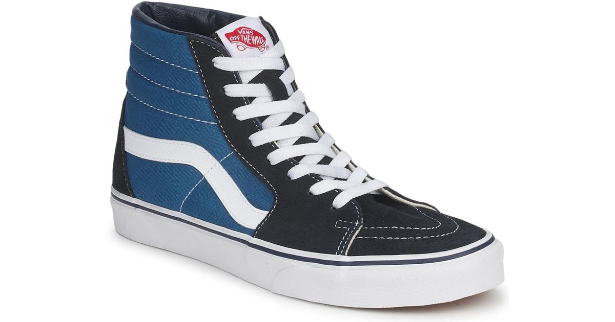 6a23d82cfd974d Vans Sk8 Hi Navy Women s Shoes (high-top Trainers) In Blue in Blue - Save  30.303030303030297% - Lyst