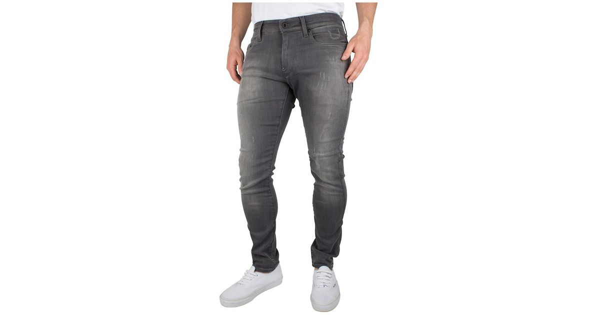 diversified in packaging high fashion 100% authenticated G-Star RAW Gray Men's Revend Super Slim Jeans, Grey Men's Skinny Jeans In  Grey for men