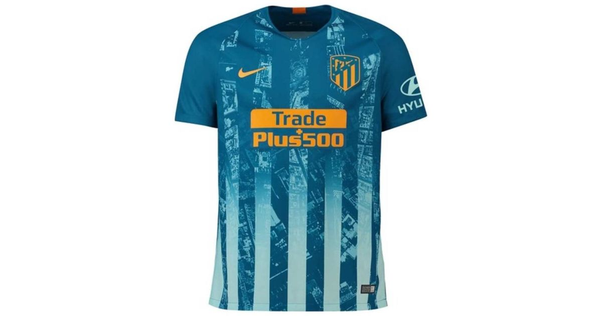 7add09cef4b Nike 2018-2019 Atletico Madrid Third Football Shirt Men's T Shirt In Blue  in Blue for Men - Lyst