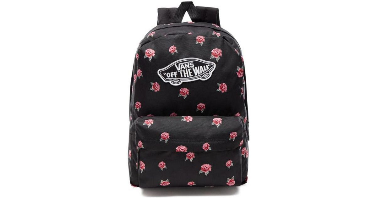 cc75ad3a1a9 Vans Realm Backpack - Black Rose Women s Backpack In Black in Black - Lyst