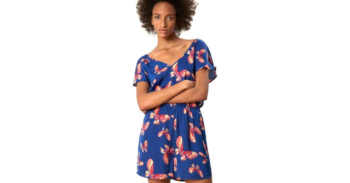 quality design 9eb8d fa855 Pepe Jeans - Al230012 Tuta Women Blue Women's Jumpsuit In Blue - Lyst