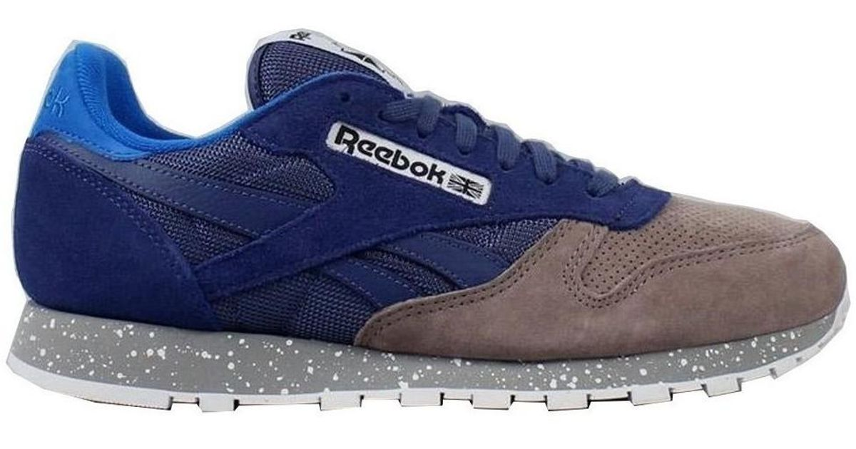 c5f2fc88e12 Reebok Classic Cl Leather Sm Men s Shoes (trainers) In Multicolour in Blue  for Men - Lyst