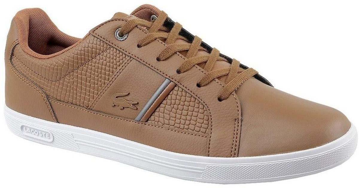 Lyst - Lacoste Europa 417 Men's Shoes (trainers) In Multicolour in Brown  for Men