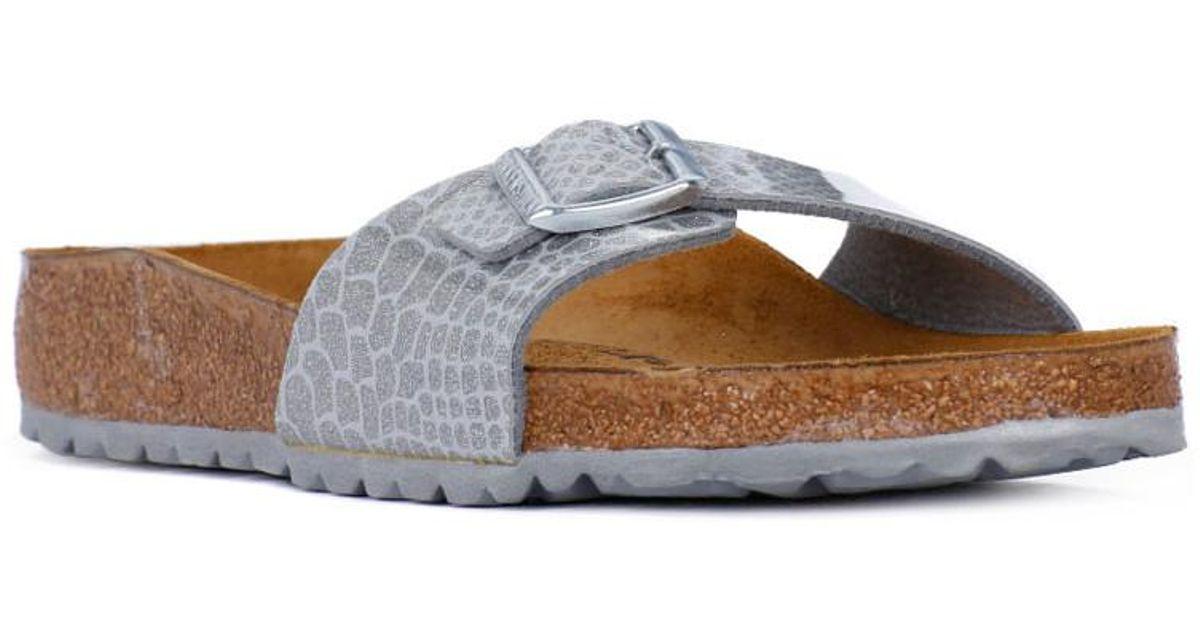 807f431d0b1f4 Birkenstock Madrid Magic Snake Women s Mules   Casual Shoes In Grey in Gray  - Lyst