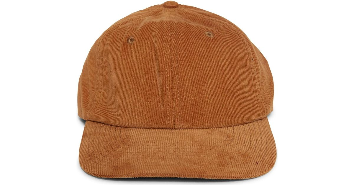 6266d96e440 The Idle Man Corduroy Cap Tan Men s Cap In Other in Brown for Men - Lyst