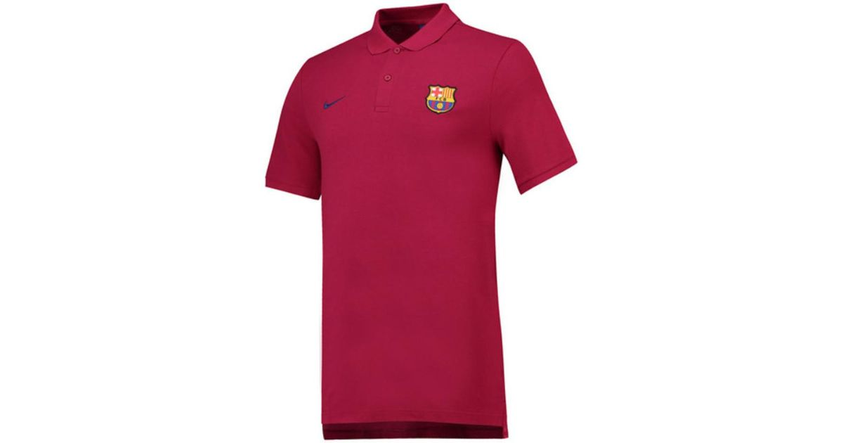 8dd3f8eb172 Nike 2018-2019 Barcelona Core Polo Shirt Men s Polo Shirt In Red in Red for  Men - Lyst