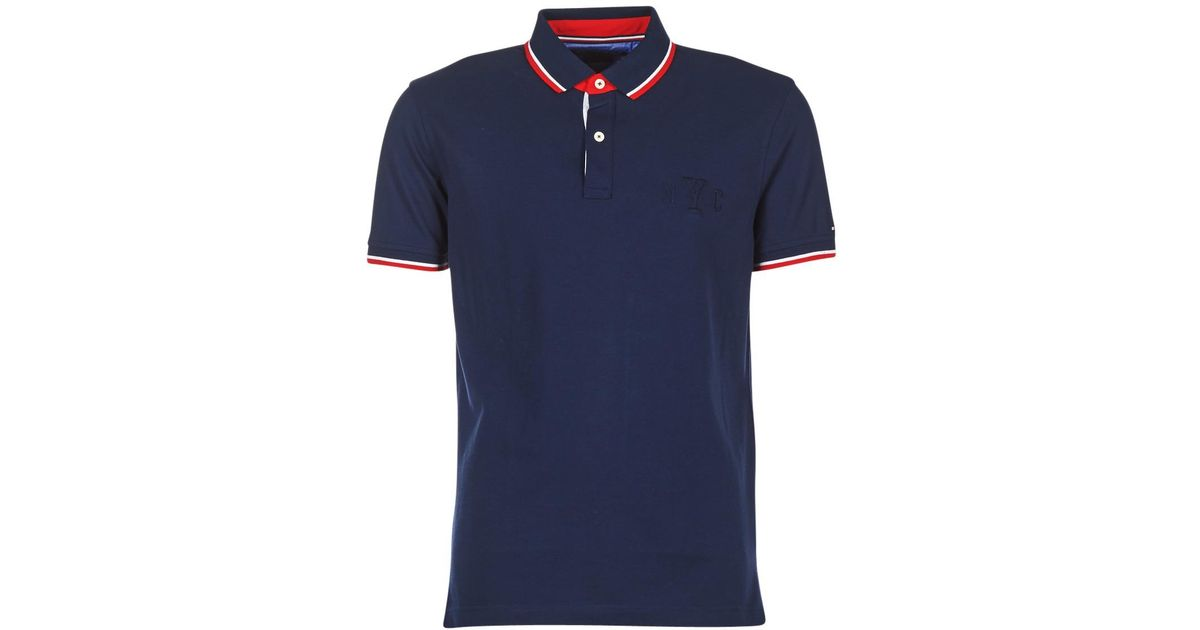 d8211142 Tommy Hilfiger Wcc-avery-tipped-polo-s/s-rf Men's Polo Shirt In Blue in  Blue for Men - Lyst