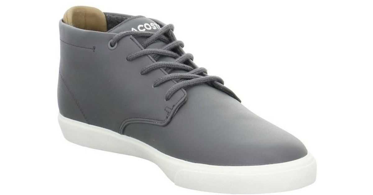 ff6e6ac72186 Lacoste Espere Chukka 417 Men s Shoes (high-top Trainers) In Grey in Gray  for Men - Lyst