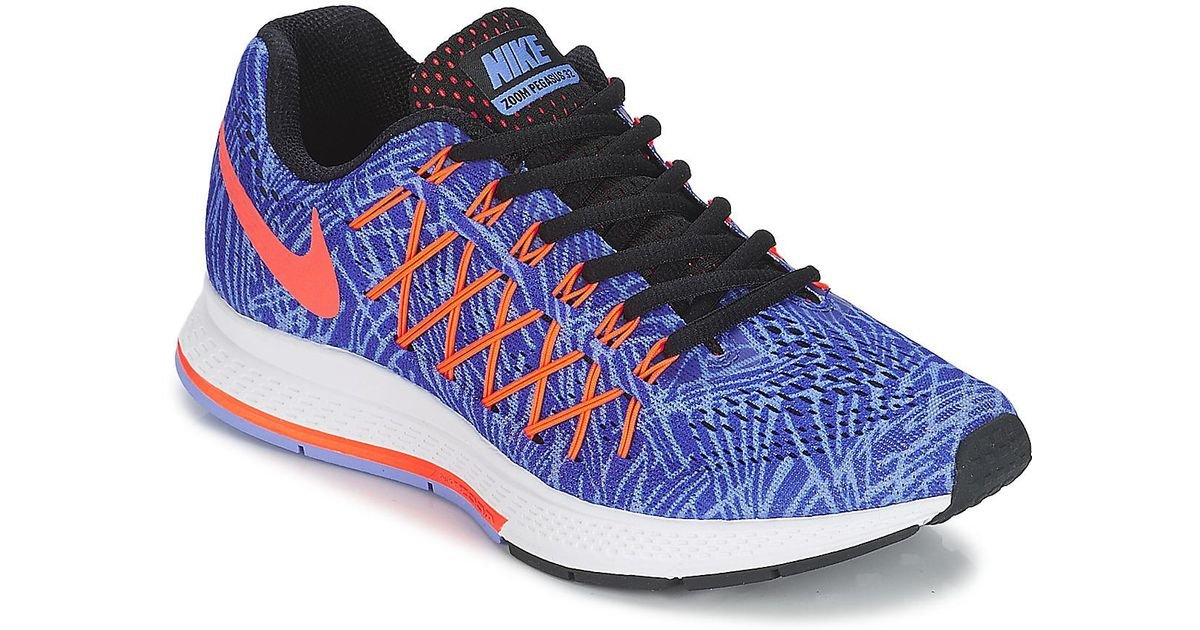 acdd31d18d0 Nike Air Zoom Pegasus 32 Print W Women s Running Trainers In Blue in Blue -  Save 9% - Lyst