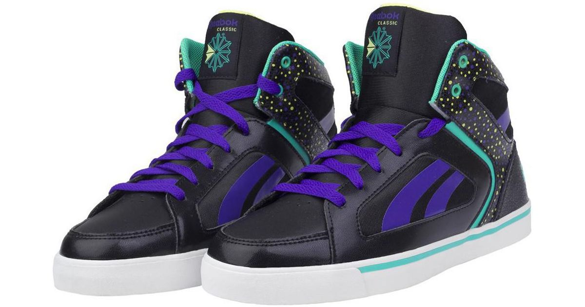 8063218e191ae Reebok Ksee You Mid Women s Shoes (high-top Trainers) In Purple in Purple -  Lyst