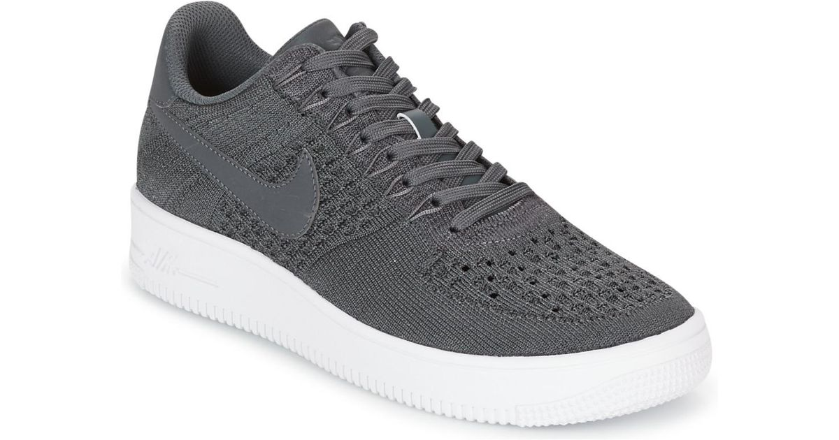 online store 796a3 2e208 Nike - Gray Air Force 1 Ultra Flyknit Low Men's Shoes (trainers) In Grey  for Men - Lyst