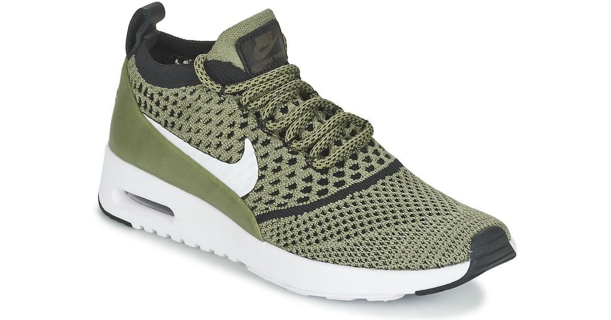 pretty nice 2e31a 805bf Nike Air Max Thea Ultra Flyknit W Women's Shoes (trainers) In Green