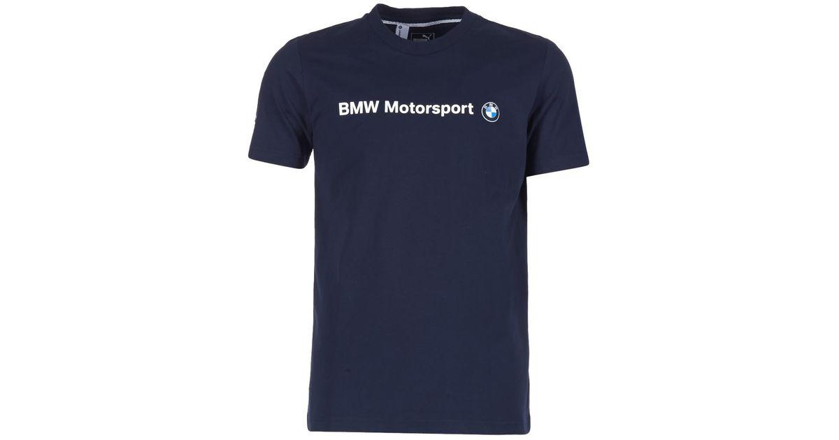 eef16de0 PUMA Bmw Msp Logo Tee T Shirt in Blue for Men - Lyst
